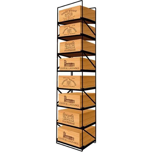 Modulorack La seule solution pour stocker 8 caisses de vins et 96 bouteilles - Aci-mod510V