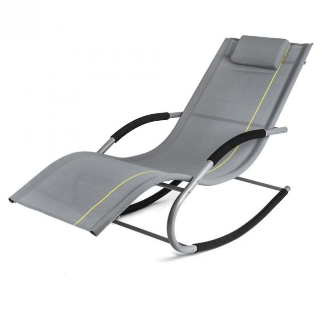 gardenkraft  transat à bascule jawa rock fauteuil piscine