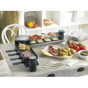noon raclette 5 en 1 8 personnes noir achat raclette. Black Bedroom Furniture Sets. Home Design Ideas