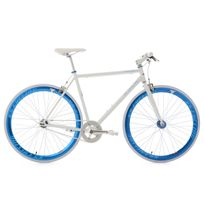 KS CYCLING - Vélo fitness 28'' Pegado blanc-bleu TC 59 cm