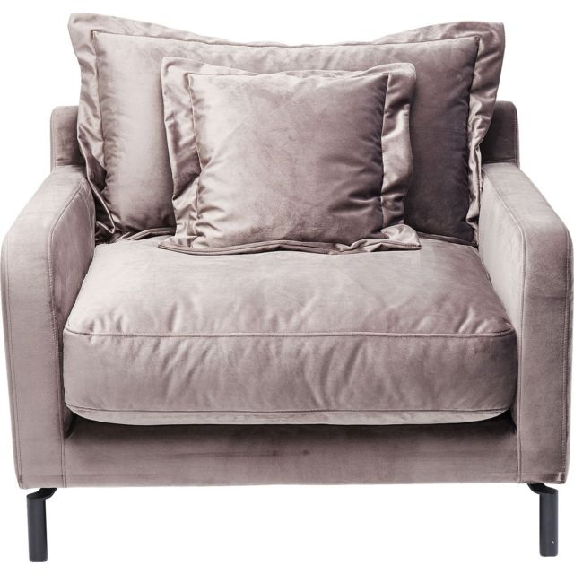 Karedesign Fauteuil Lullaby velours taupe Kare Design