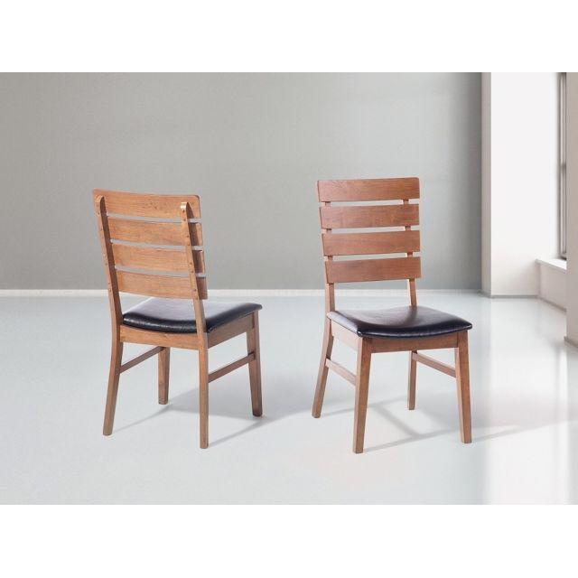 Beliani Chaise de salle à manger - chaise en cuir - marron - Dumbo