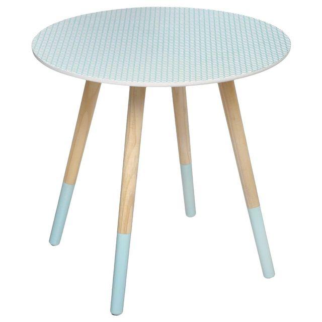 Atmosphera - Table basse Mileo Lovely Ø48cm coloris vert
