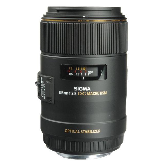Sigma Objectif 105 mm f/2.8 Dg Os Hsm Macro Ex monture Garanti 3 ans