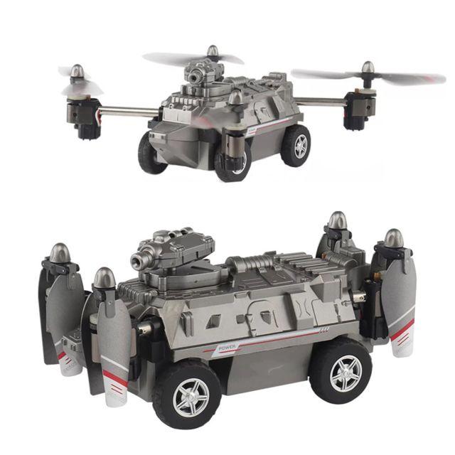 Generic Fy033 Terre et Air Altitude attente vol réservoir Rc Quadcopter Drone Toy argent