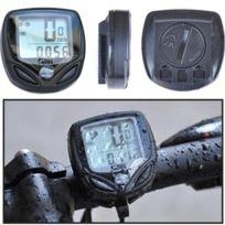 Wewoo - Sd-548C 14 Fonction Noir Lcd Étanche Sans Fil Multifonctionnel Cycle Vélo Compteur Ordinateur Odomètre