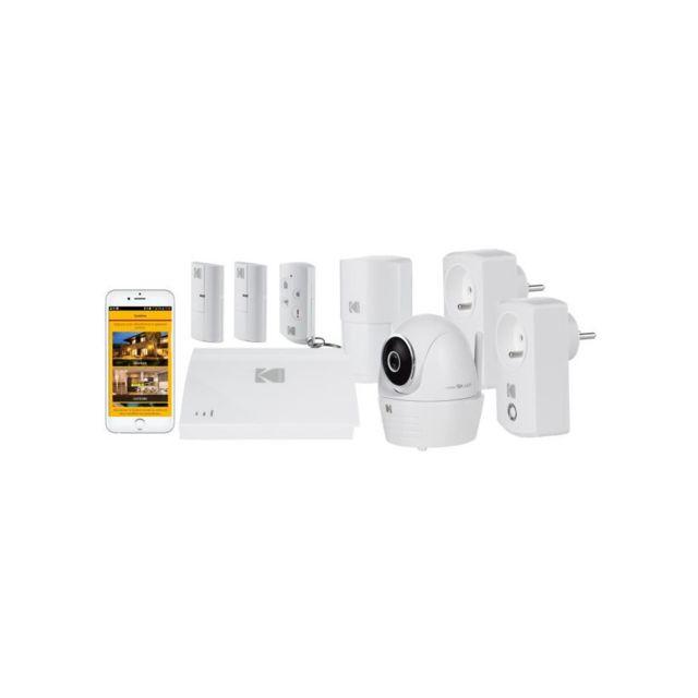 kodak systeme d 39 alarme maison sans fil avec cam ra de surveillance full hd security pas cher. Black Bedroom Furniture Sets. Home Design Ideas