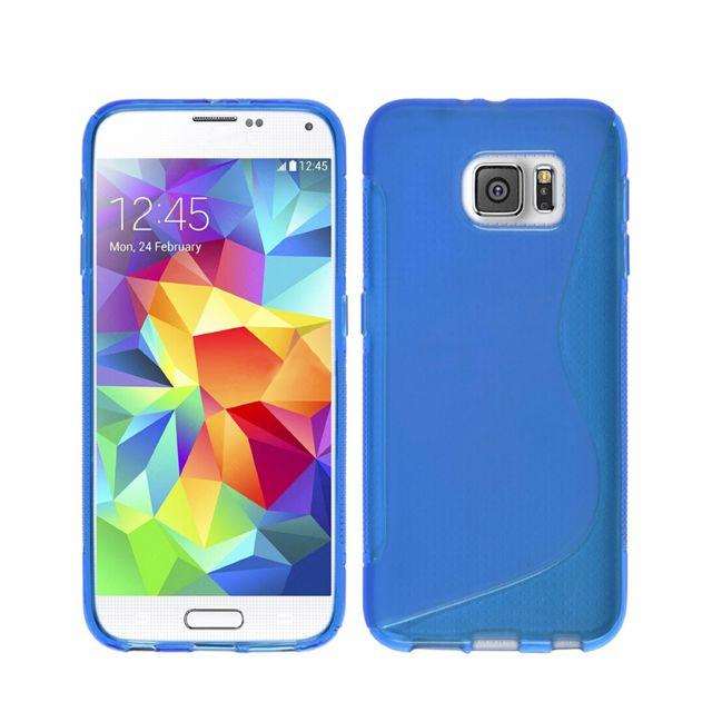 Lapinette - Coque Gel Vague S Pour Samsung Galaxy S8 + Film - Bleu