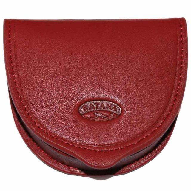 Katana - Katana -porte-monnaie cuvette en cuir de vachette lisse - Rouge b9a480824ba