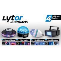 Lytor - Pack de 4 jeux de lumières à Leds Diams
