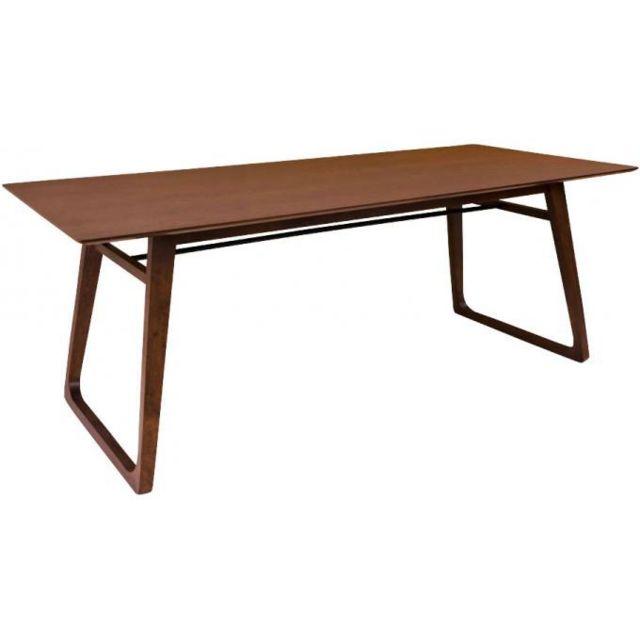 Declikdeco Table à Manger en Noyer Marthe