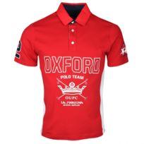 Polo La Martina rouge bleu marine et blanc Oxford Polo Team régular pour homme