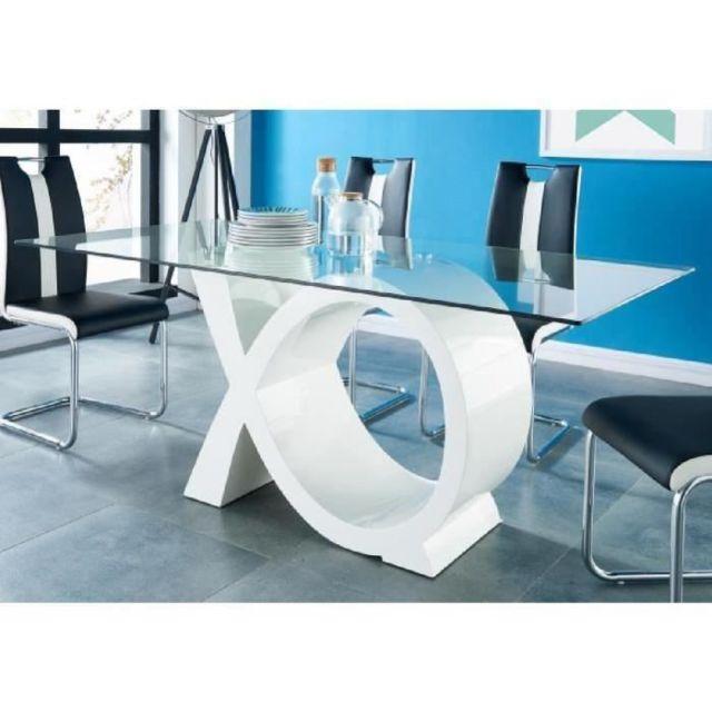 9747937751cbd GÉNÉRIQUE - Table A Manger Seule Sharon Table a manger 8 personnes  contemporain - Laqué blanc