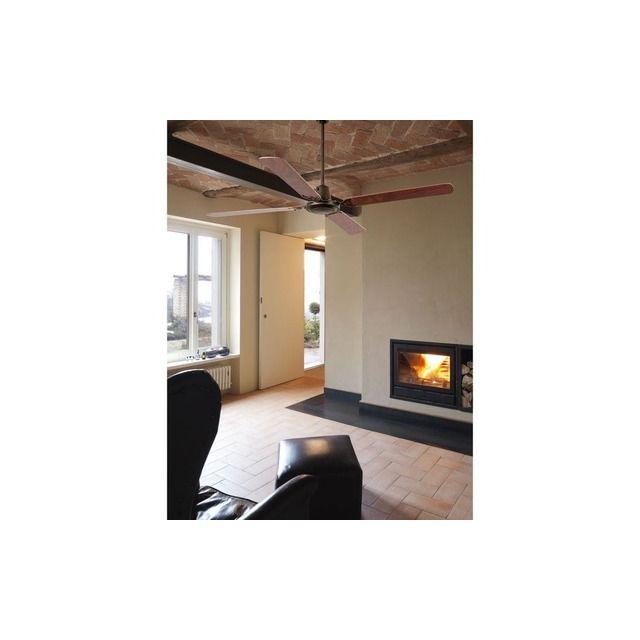 Ventilateur plafond Malvinas 140cm Chrome Noyer Acajou