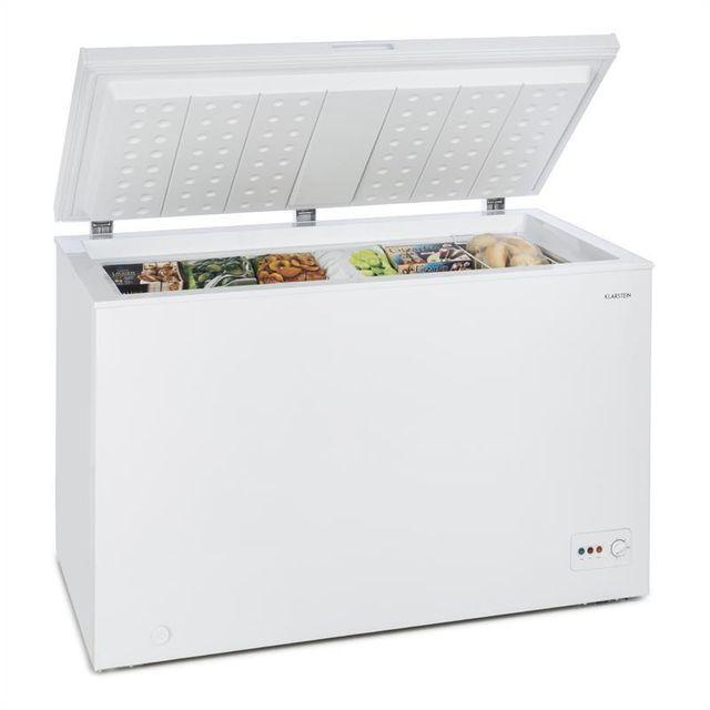KLARSTEIN Iceblokk 300 Congélateur coffre 300L 142 kWh/a classe A+++ - blanc