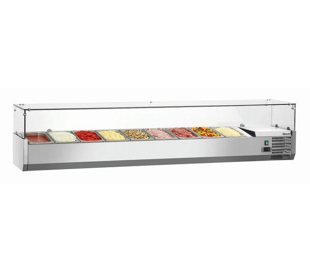 Bartscher Presentoir refrigere Gl 9 x Gn1/3