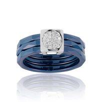Bleue Joaillerie - Bague Argent 925/1000 Céramique