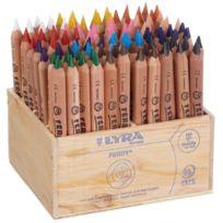 Lyra - Ferby Nature, Crayon De Couleur Triangulaire, Non LaquÉ, Coffret En Bois 96 PiÈCES