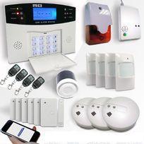 EMATRONIC - Alarme maison sans fil Gsm - Al01 + détecteurs gaz et incendie