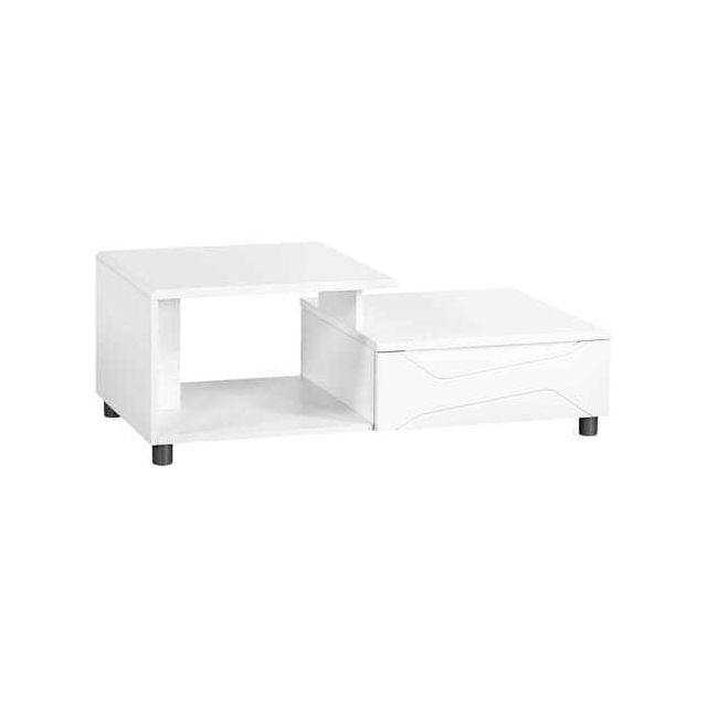 SUBLEEM Table basse laqué blanc brillant