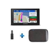 GARMIN - GPS DRIVE SMART 50 LM + HOUSSE + Adaptateur USB allume cigare