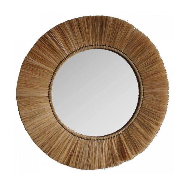 Wadiga Miroir Rond Style Exotique Fibres Naturelles - 62cm