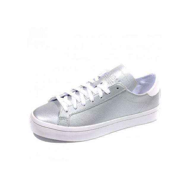 Femme Vantage Argent Adidas Court Originals Chaussures wqtnAaXSPA