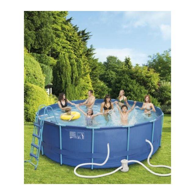 e927aae874b99 CARREFOUR - Kit piscine tubulaire 457 x 122 cm - pas cher Achat ...