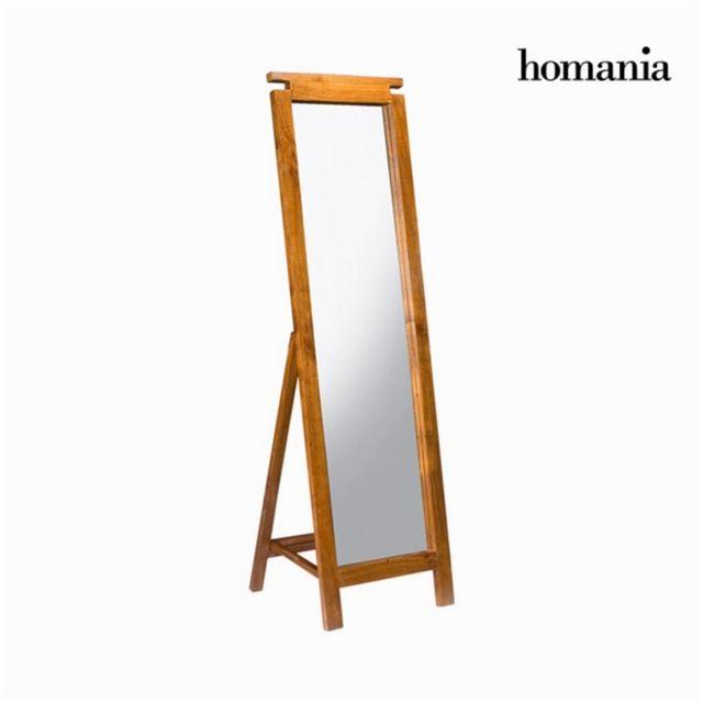 Homania Miroir sur pied couleur noyer by