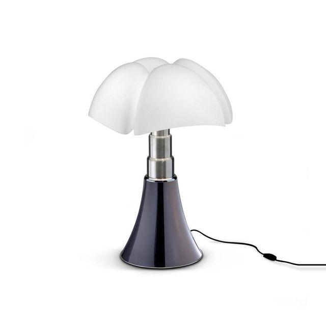 Martinelli Luce Mini Pipistrello - Lampe Titane Led H35cm - Lampe à poser designé par Gae Aulenti