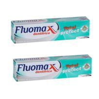 Fluomax - Lot de 2 Dentifrices Total protect 5 Actions - Bi-fluor & Menthol