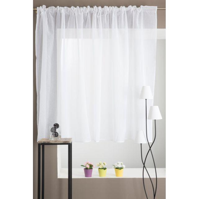 rideaudiscount voilage grande largeur galon fronceur 300 x 160 blanc pas cher achat. Black Bedroom Furniture Sets. Home Design Ideas