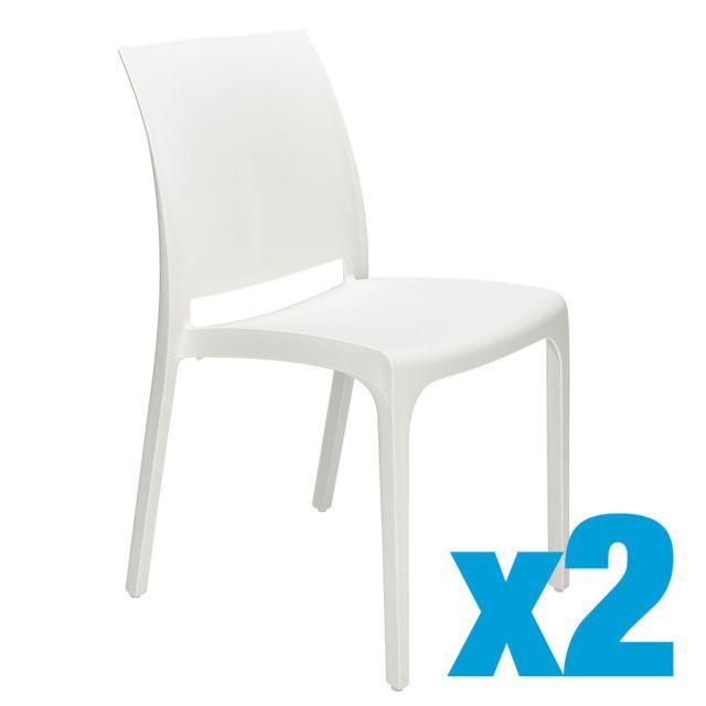 chaise empilable plastique rome