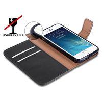 Cabling - Apple iPhone Se / 5 5S Housse Wallet Coque Case Cover Portefeuille Pochette avec fentre Etui noir