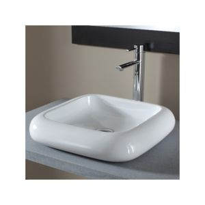 planetebain vasque poser carr e en c ramique pas. Black Bedroom Furniture Sets. Home Design Ideas