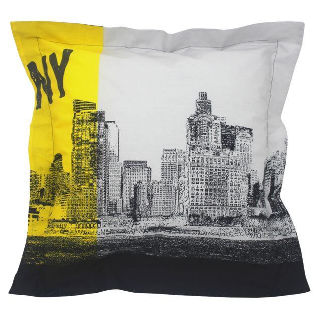 linnea taie d 39 oreiller 65x65 cm 100 coton new york pas cher achat vente taies d 39 oreiller. Black Bedroom Furniture Sets. Home Design Ideas