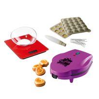 Domoclip - Balance électronique rouge + Kit moule cake pops + Appareil à mini cakes