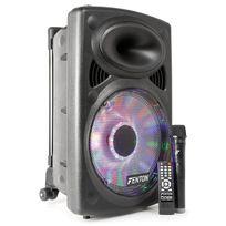 Fenton - Fps12 - Sono portable 12 pouces avec effets Led intégré, Vhf et bluetooth