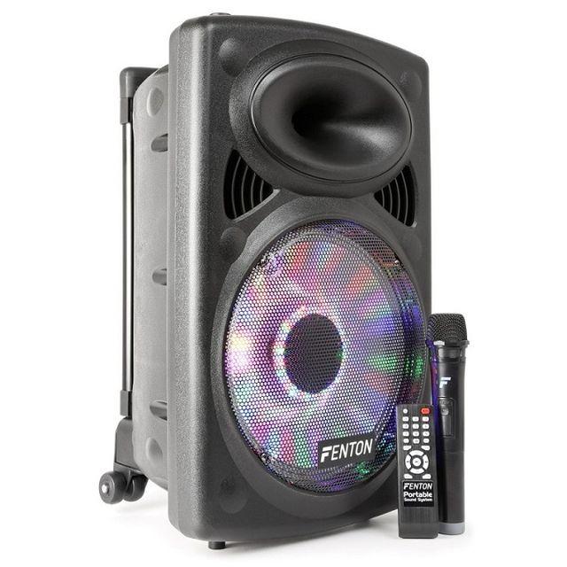 Fenton Fps12 - Sono portable 12 pouces avec effets Led intégré, Vhf et bluetooth
