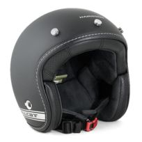 Harisson - casque jet moto scooter fibre noir-gris mat - Ca202 Xl