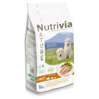 Nutrivia - Croquettes au Poulet pour Chiot - Nature - 12Kg