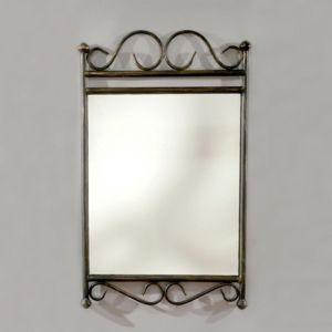 Marque Generique Miroir En Fer Forg Verre L43xh70cm