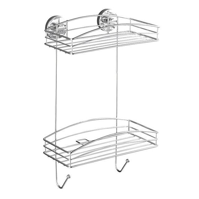 wenko etag re murale 2 niveaux fixation sans per age 20886100 pas cher achat vente. Black Bedroom Furniture Sets. Home Design Ideas