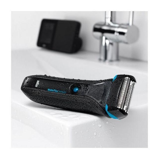 Braun - Rasoir électrique 224146 Wet DRY Waterproof Noir Batterie  rechargeable b0f83a9f3251