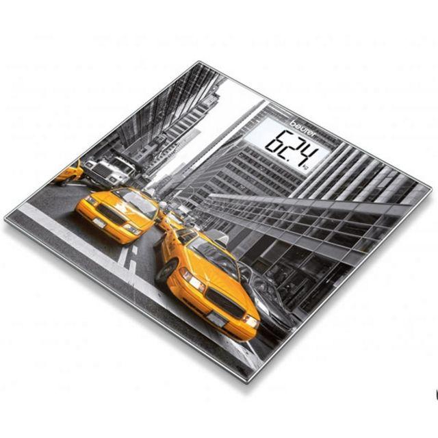 BEURER Pèse-personne en verre - motif New York