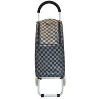 BO TIME - Chariot de courses 2 roues 27L pour femmes - Tissu quadrillé de haute qualité