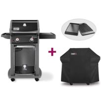 Barbecue gaz 4 bruleurs 1 rechaud inox achat barbecue for Housse barbecue weber e210