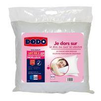 DODO - Lot 2 oreillers moelleux BASIC COTON