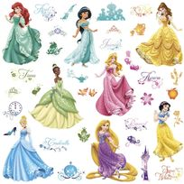 Roommates - 37 Stickers Princesses Disney Royal Repositionnables