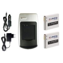 mtb more energy® - Chargeur + 2x Batteries Nb-4L pour Canon Ixus 230 Hs, i Zoom, i7 Zoom, Wireless